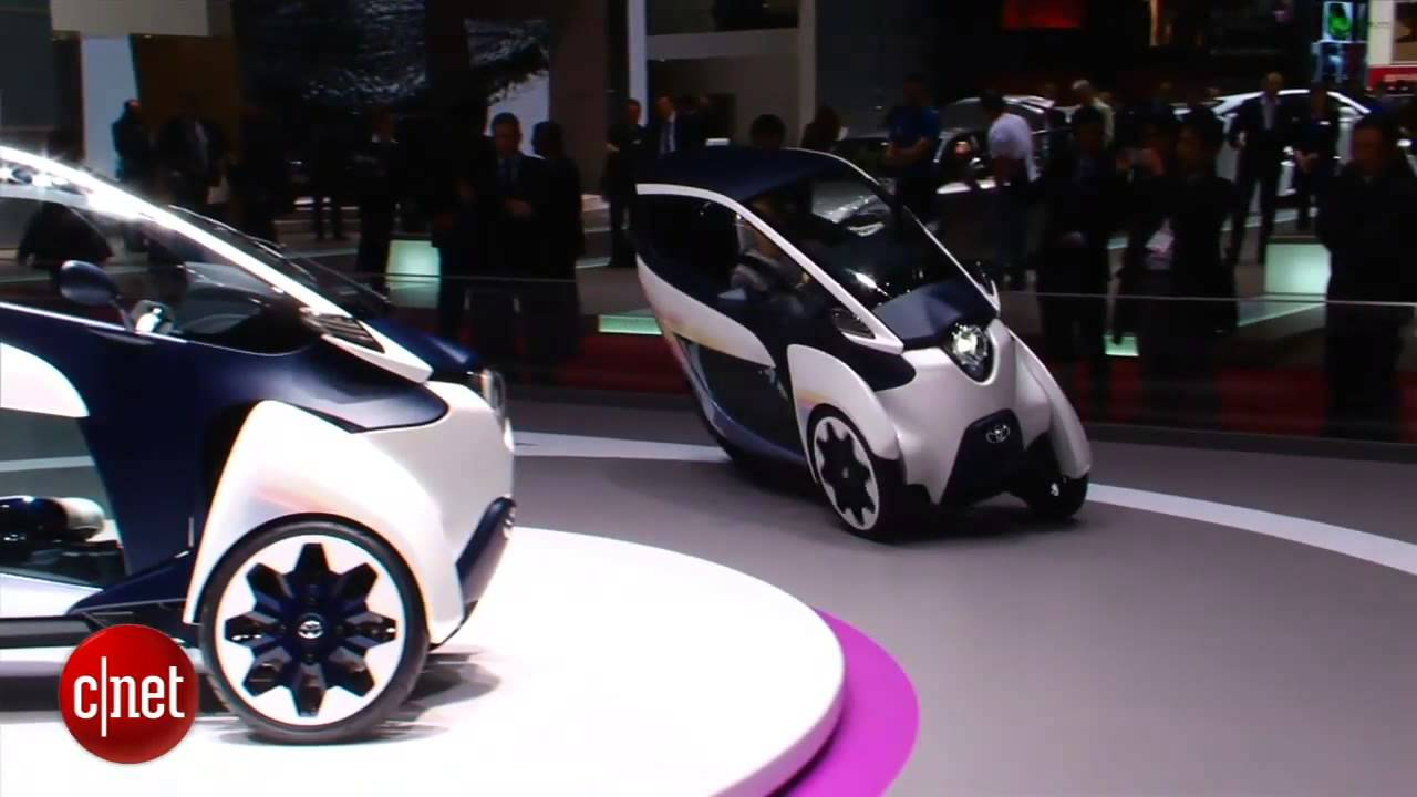 Car Tech Toyota I Road Concept Youtube Shows The Iroad A Fullyenclosed Tilting Electric Three