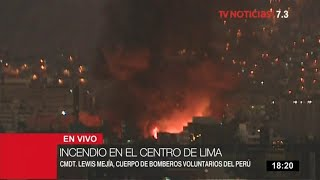 Mesa Redonda: incendio de gran magnitud consume almacén