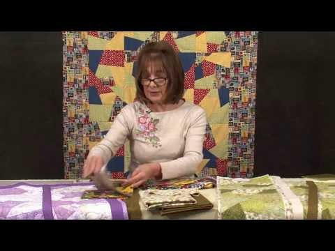 Crazy patchwork quilt-as-you-go technique with Valerie Nesbitt (taster video)
