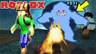 ☃️WILL CAMPING BALDI SURIVIVE GIANT YETI?! | Roblox: Time Travel Adventures Subzero/Cavemen Ending
