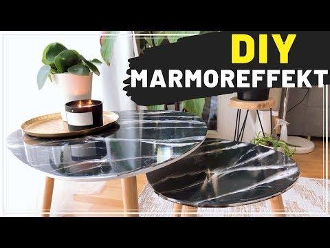DIY RESIN ART TISCH Marmoroptik (Epoxitharz Tutorial einfach) Marble Table