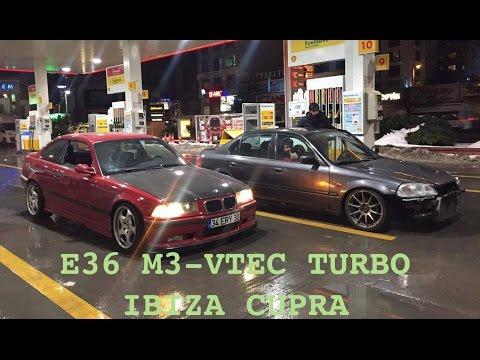 E36 M3 - Honda Civic Turbo GT3582R - Gece Gece Geziyoruz (VLOG-3)