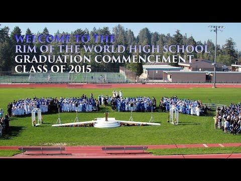 Rim of the World Graduation 2015