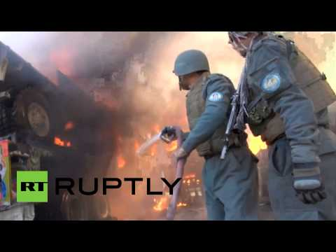 Video: Taliban strikes US Afghan base, NATO trucks on fire