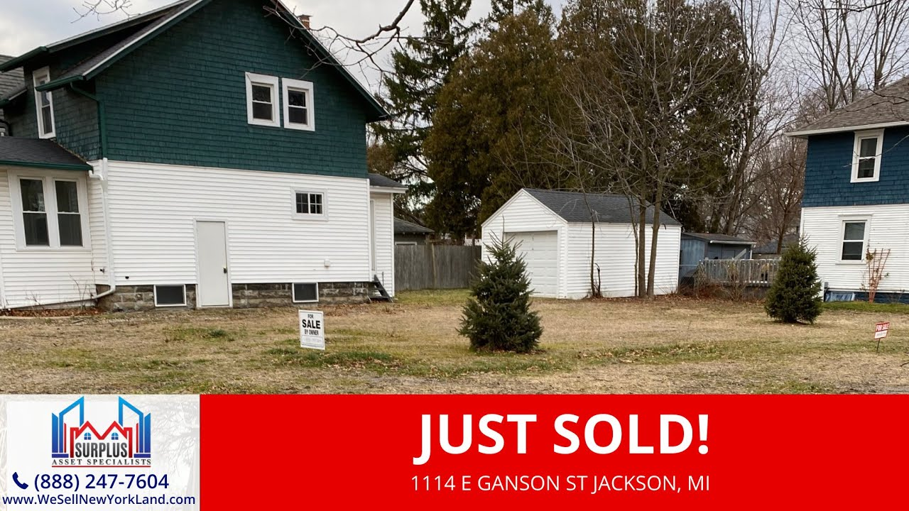 Just Sold By www.WeSellNewYorkLand.com - 1114 E Ganson St Jackson, MI - Wholesale Land For Sale