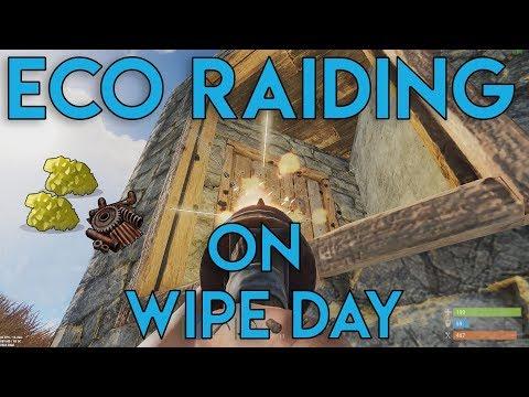 ECO RAIDING ON WIPE DAY!! - Rust Survival #4 ft MR. IRISH LAD