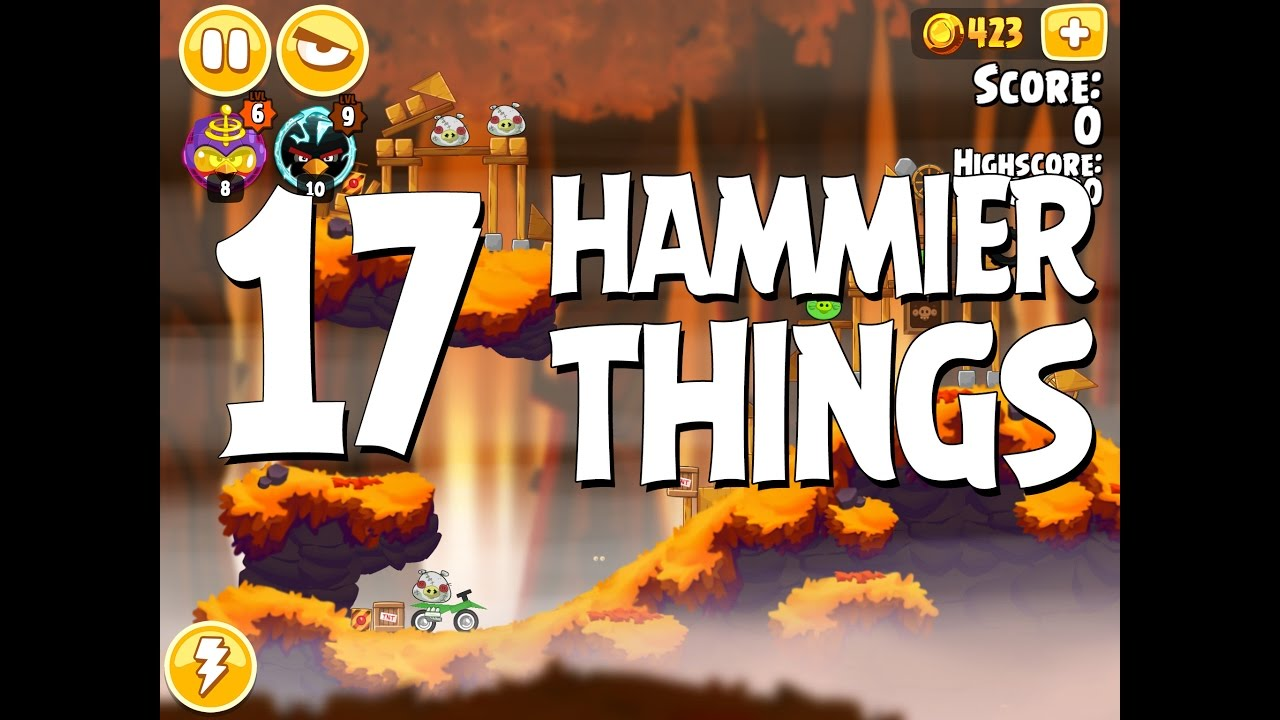 Angry Birds Hammier Things angry birds seasons hammier things level 1-17 walkthrough 3 star