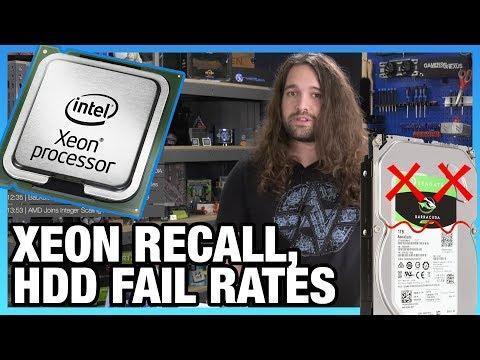 HW News - Intel CPU Recall, 7nm GPU, AMD Ray Tracing Bench, & HDD Failure Stats