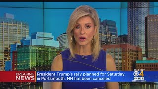 President Trump's Portsmouth, New Hampshire Rally Postponed Due To Tropical Storm Fay