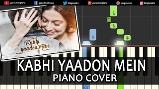Kabhi Yaadon Mein Divya Khosla Kumar|Hindi Song|Piano Chords Tutorial Instrumental Karaoke By Ganesh