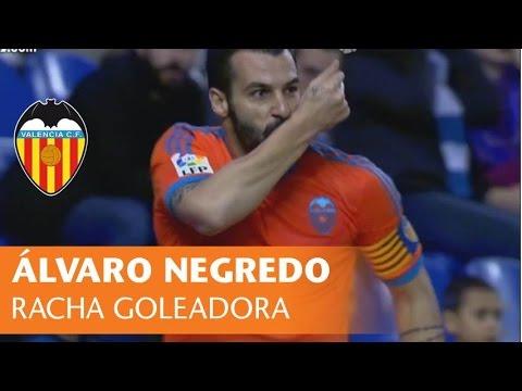 VALENCIA CF: La racha goleadora de Álvaro Negredo