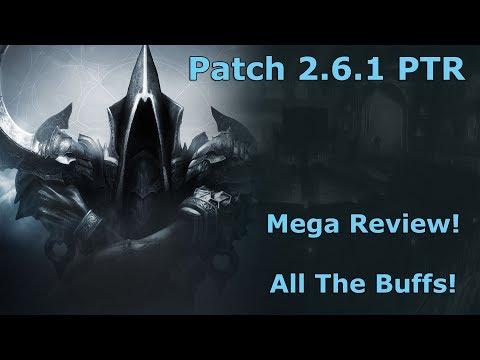 [Diablo 3] Patch 2.6.1 PTR Mega Review! All The Buffs!