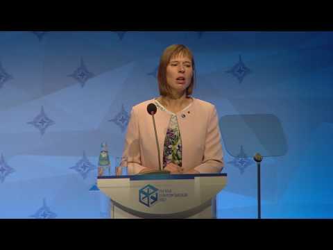 H.E. Mr Raimonds Vejonis, H.E. Ms Kersti Kaljulaid | The Riga StratCom Dialogue 2017