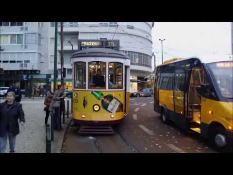 Tram nr. 28 - Lisbon / Lisboa - Portugal - full way video