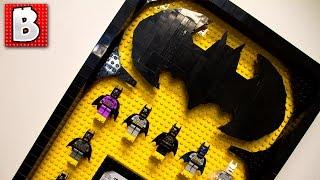 All Lego Batman Minifigs On Custom Built Display!