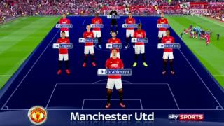 Manchester United vs Leicester City 4-1 2016/2017
