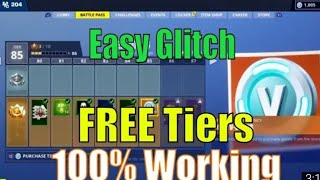 HOW TO GET FREE TIERS IN A GLITCH IN FORTNITE BY DG REVENGER