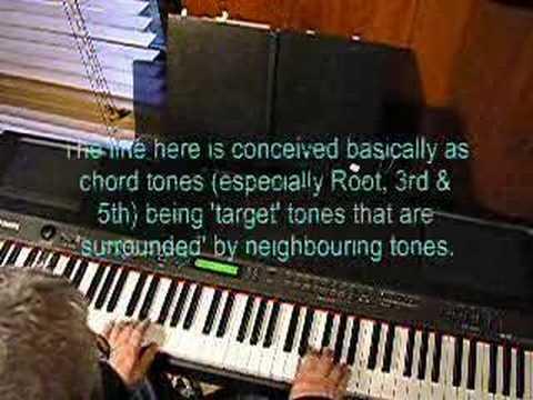 Blue Bossa Version 1 - improvised jazz piano trio - YouTube