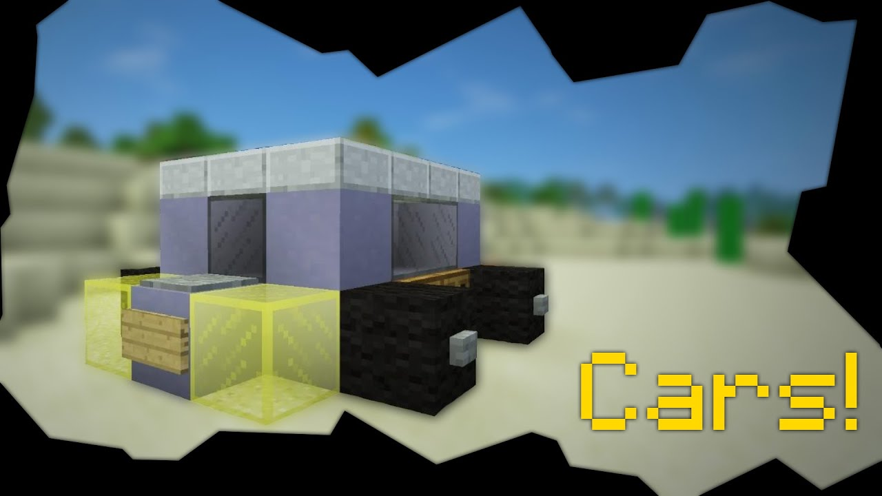 how to build a car in minecraft