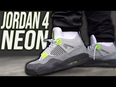 Jordan 4 Air Max 95 Neon Review And On Foot In 4k Youtube