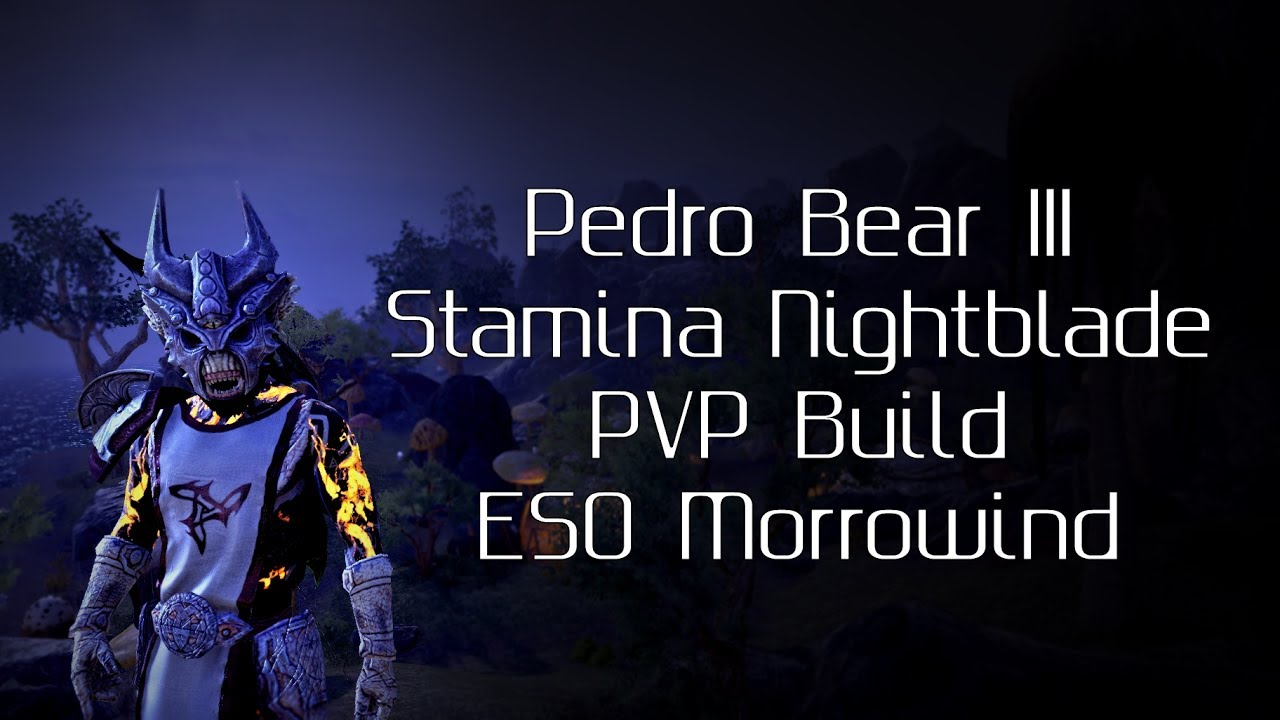 Stamina Nightblade Pvp Build Morrowind