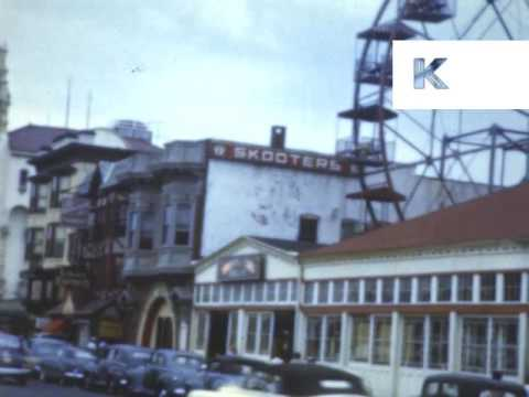 1950s Summer in Asbury Park New Jersey, Colour Home Movies