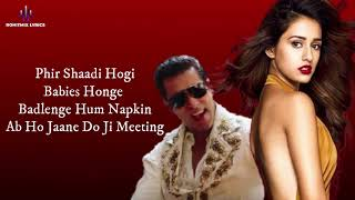 Slow Motion (LYRICS) - Bharat | Salman Khan, Disha Patani | Vishal-Shekhar Ft. Nakash A, Shreya G