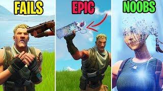 Noob BEGS for Mercy! FAILS vs EPIC vs NOOBS! Fortnite Funny Moments