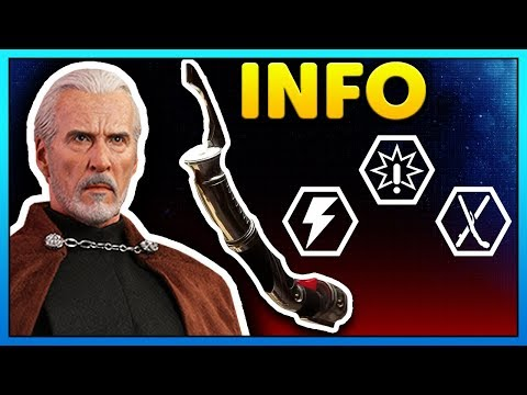 COUNT DOOKU so far - Abilities, Animations, Emotes, Poses - Battlefront 2