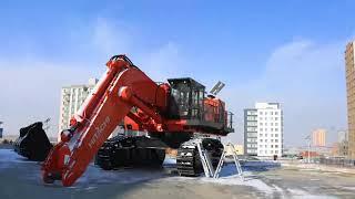 HITACHI EX1200-6 Assembly timelapse Mongolia Mining 2019