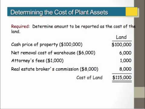 ACCT201 Ch9.1 - Plant Assets