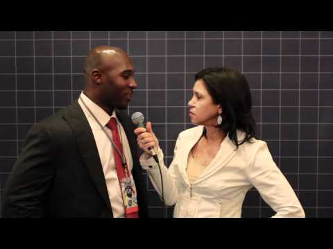 Jen Heasley with DeMeco Ryans of the Houston Texans at the 2012 Ed Block Courage Awards