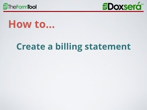 How To Create A Simple Billing Statement In Word - Youtube