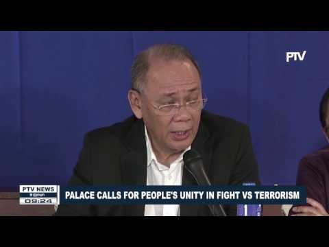 Palace calls for people's unity in fight vs terrorism