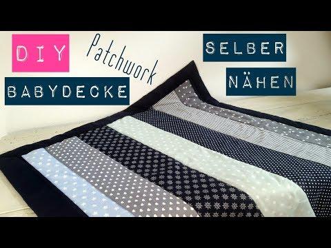 Berühmt DIY Babydecke/Patchworkdecke selber nähen | Nähen für Anfänger PI01