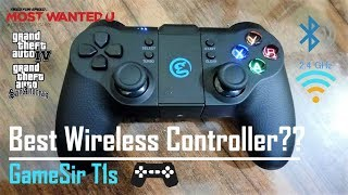 Best Bluetooth and Wireless Game Controller For PC, Android, PS3 | GameSir T1s Review with Gameplay!