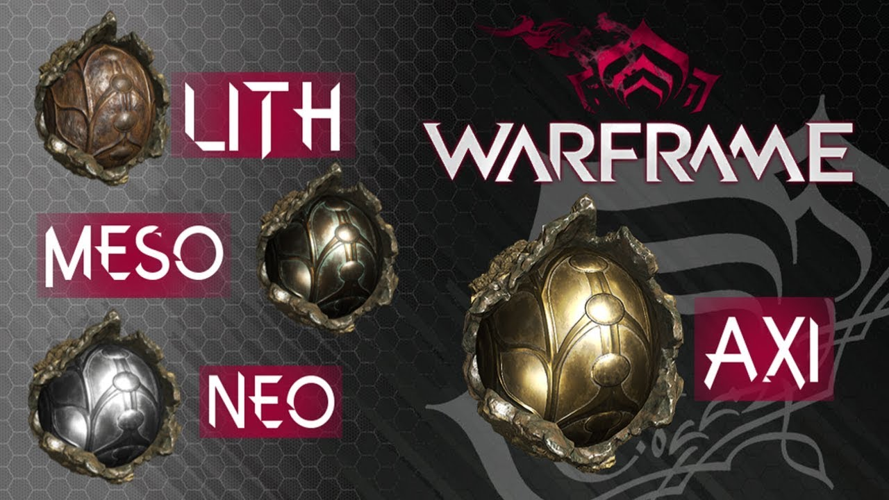 Warframe - Relic Farm pt.1 (Lith, Meso, Neo, Axi) - YouTube
