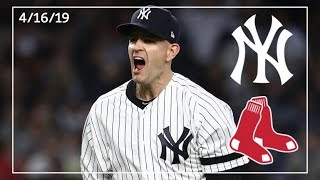 Boston Red Sox @ New York Yankees | Yankee Highlights | 4/16/19