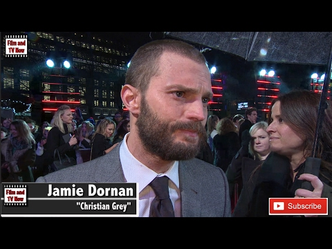 Jamie Dornan red carpet interview at the Fifty Shades Darker UK Premiere