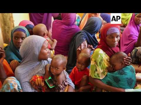 ONLY ON AP Drought, hunger push Somalis to flee
