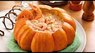 Stuffed Pumpkin - Shrimp Or Chicken - Camarao Na Moranga