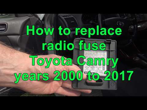 how to replace radio fuse toyota camry years 2000 to 2017 youtube Toyota Corolla Gas Tank Location