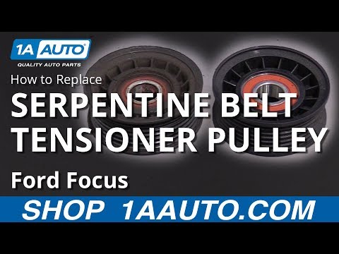 How to Replace Serpentine Belt Tensioner Pulley 00-04 Ford Focus