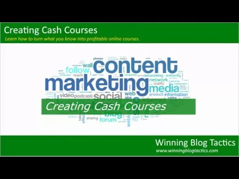 Creating Cash Courses: Module 01 - Introduction To Online Marketing