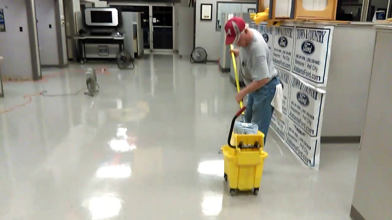 Waxing A Vct Floor Youtube