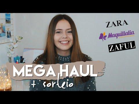 MEGA HAUL: Maquillalia, Zara, Zaful + SORTEIO || SARA Vicario