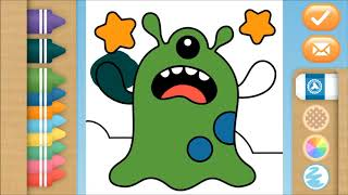 Coloring Monster Alien 2 | Coloring channel for toddlers and kids | Mari Mewarna