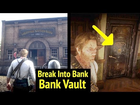 Enter Valentine Savings Bank at Night in Red Dead Redemption 2 (RDR2): Go Inside Bank Vault