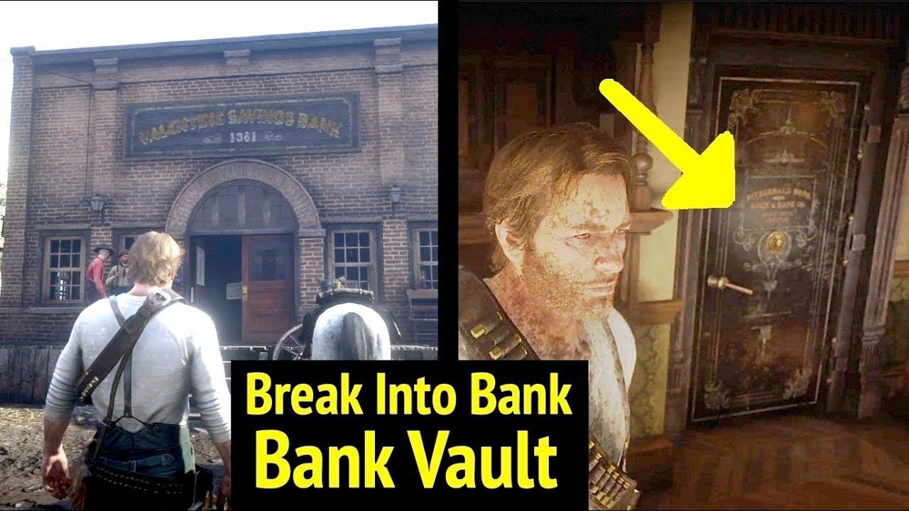 Enter Valentine Savings Bank at Night in Red Dead Redemption 2 (RDR2): Go  Inside Bank Vault
