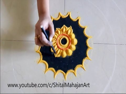 Super Creative and Easy Rangoli Designs# Innovative Rangoli by Shital Mahajan.